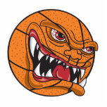 angry mean basketball acrylic cut outs