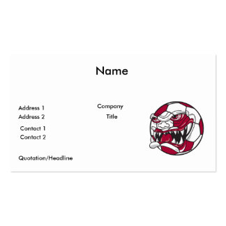 angry mean extreme soccer ball graphic business card