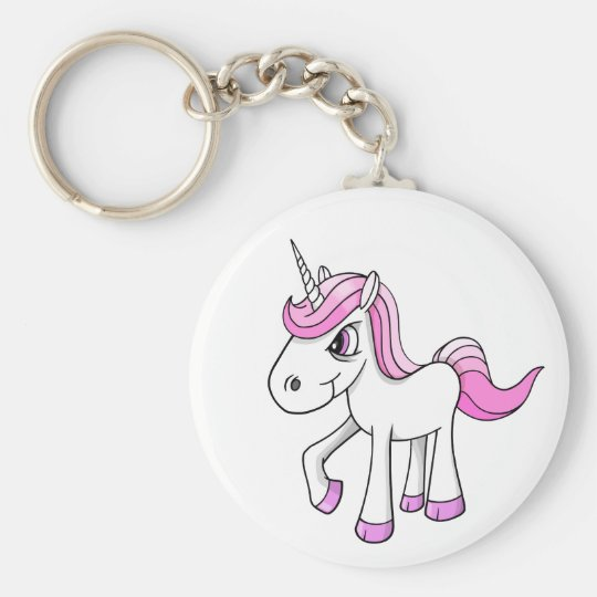 Angry Meany Unicorn Pony Key Chain