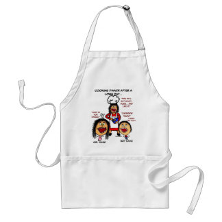 Angry Mom Cooking Cartoon Standard Apron