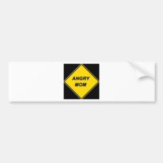 """Angry Mom"" design Bumper Sticker"