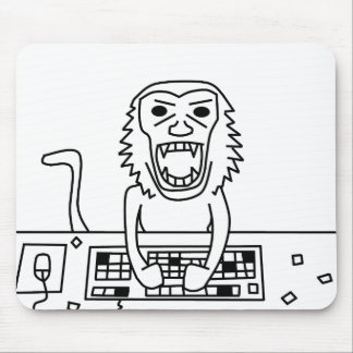 Angry Monkey mouse pad