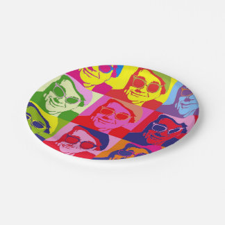 Angry Mosaic Paper Plate