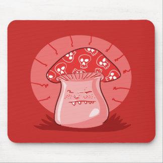 angry mushroom funny cartoon mouse mat