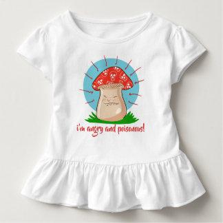 angry mushroom funny cartoon toddler T-Shirt