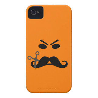 Angry Mustache Smiley Blackberry Bold case