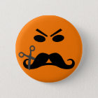 Angry Mustache Smiley button
