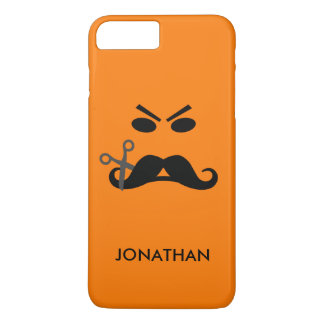Angry Mustache Smiley custom name phone cases