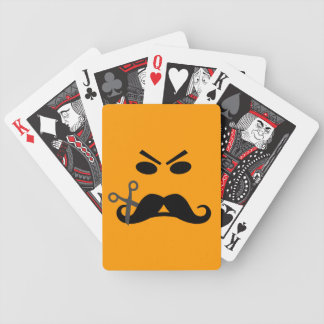 Angry Mustache Smiley custom playing cards
