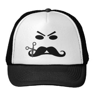 Angry Mustache Smiley hat - choose color
