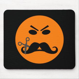 Angry Mustache Smiley mousepad