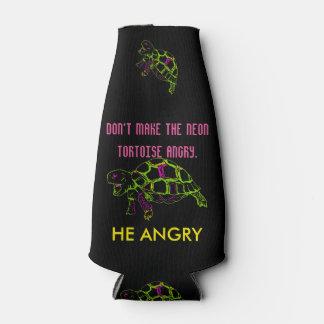 Angry Neon Tortoise Bottle Cooler