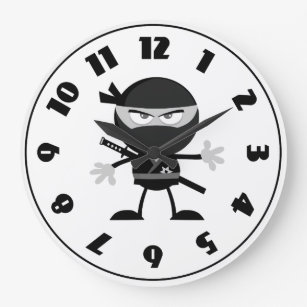 Angry Ninja Warrior Clock