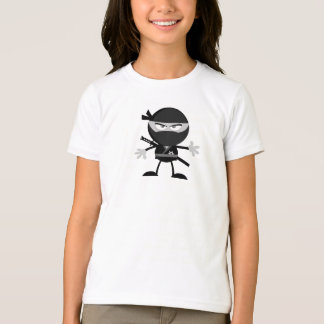 Angry Ninja Warrior Girls T-Shirt