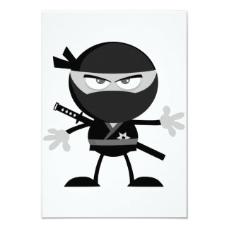 Angry Ninja Warrior Invitations
