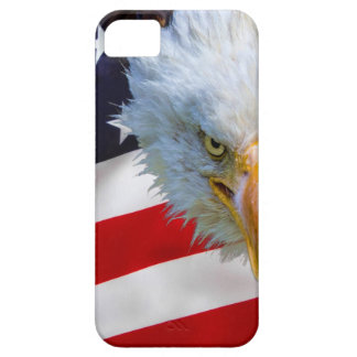 Angry north american bald eagle on american flag iPhone 5 cover
