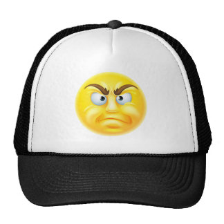 Angry or Disapproving Emoticon Emoji Cap