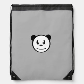 Angry Panda Drawstring Backpack