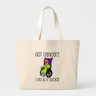 Angry Patient Got Cancer Large Tote Bag