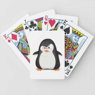 Angry Penguin Bicycle Playing Cards