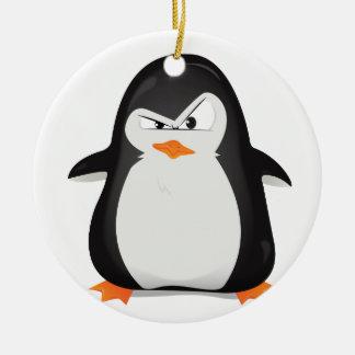 Angry Penguin Christmas Ornament