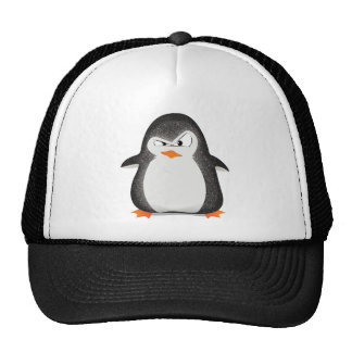 Angry Penguin Glitter Photo Print Cap