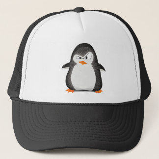 Angry Penguin Glitter Photo Print Trucker Hat