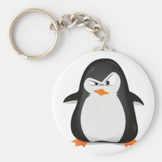 Angry Penguin Key Ring