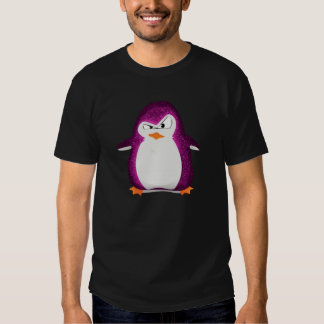 Angry Penguin Pink Glitter Photo Print Shirts