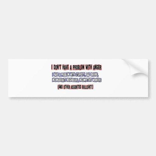 Angry person designs bumper sticker