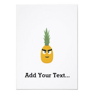 angry pineapple 11 cm x 16 cm invitation card