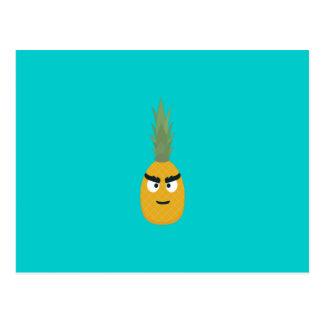 angry pineapple postcard