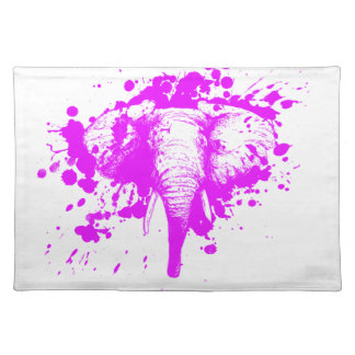 Angry Pink Elephant Placemats