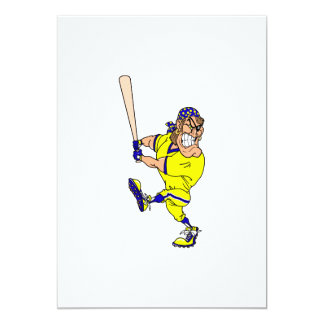 Angry pirate batter baseball 13 cm x 18 cm invitation card