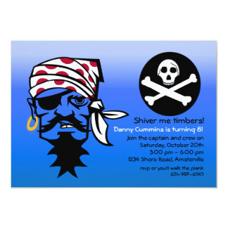 Angry Pirate Birthday Party Invitation