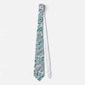 Angry Pirate Logo Tie