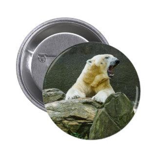 Angry Polar Bear 6 Cm Round Badge