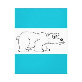 Angry polar bear design cards and paper products canvas prints