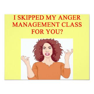 angry psychology joke 11 cm x 14 cm invitation card