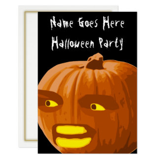 Angry Pumpkin Halloween Party Invitation