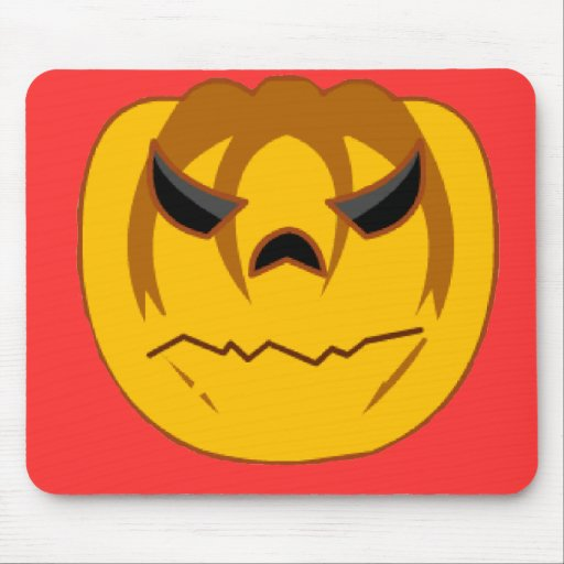 Angry Pumpkin Mouse Mat