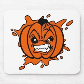 Angry Pumpkin Mouse Pad