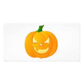Angry Pumpkin Picture Card