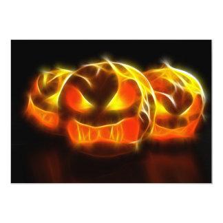 Angry Pumpkins at Halloween 13 Cm X 18 Cm Invitation Card