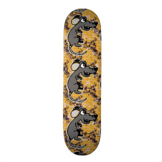 Angry rat skateboard deck