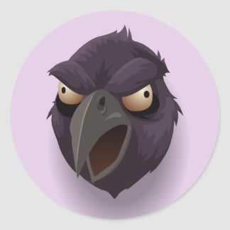 Angry Raven stickers