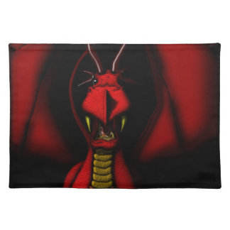 Angry Red Dragon Placemat