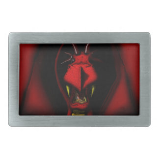 Angry Red Dragon Rectangular Belt Buckle