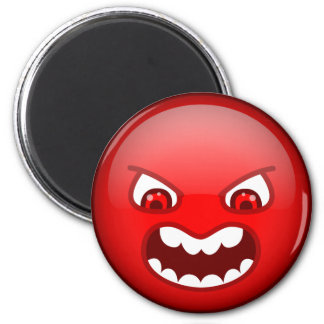 Angry red magnet
