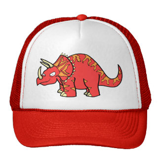 Angry Red Triceratops - Dinosaur-gifts.com Cap
